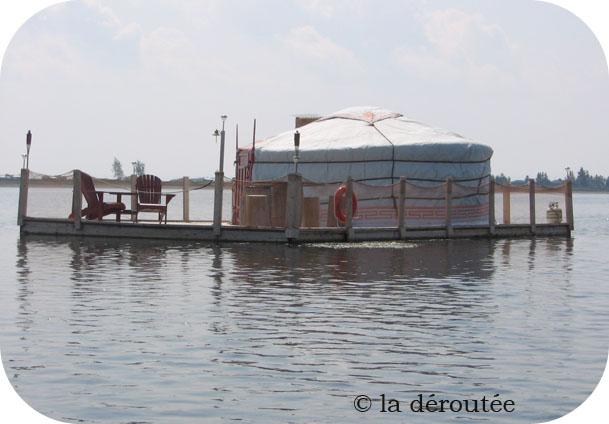 Visite d'une yourte flottante (Carleton-sur-mer, Gaspésie)